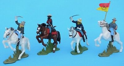 BRITAINS Herald Mounted 7th Cavalry 1/32 54mm figures toy soldiers DSG