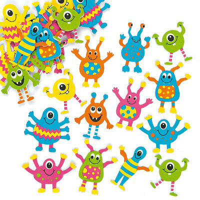 Monster Foam Stickers for Kid's Craft Decorations & Card Making (Pack of 100)