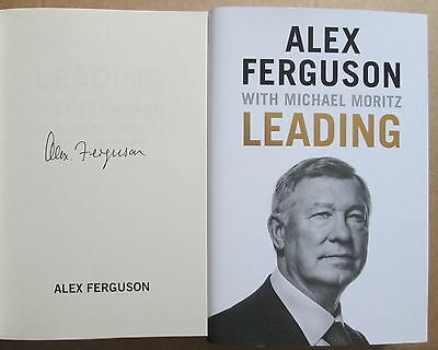 Alex Ferguson-Leading-Signed Book-Manchester United