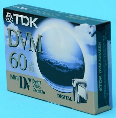 TDK DVM 60 MiniDV Digital Video Cassette tape