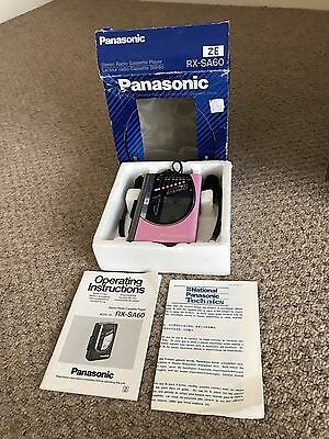Vintage Panasonic Rx Sa 60 Walkman Cassette Player