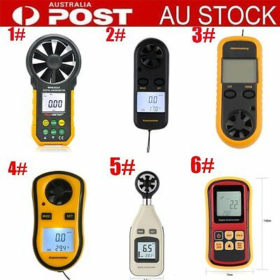 MS6252A Digital LCD Anemometer Thermometer Air Wind Speed Gauge Meter AU-POST