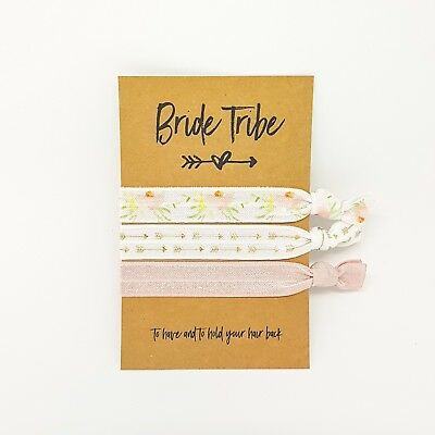 Will You Be My Bridesmaid Moh Elastic Hair Ties Bridal Party Gift Favour