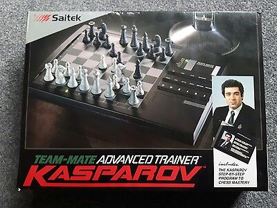 SAITEK - KASPAROV Team  Advanced Trainer Chess Computer - Boxed /w Instructions