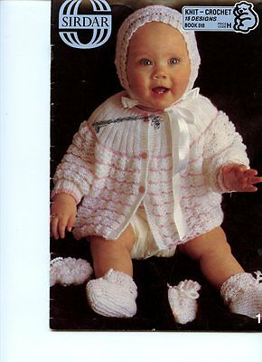 Sirdar Book # 510,  Knit & Crochet designs for Baby - 15 patterns