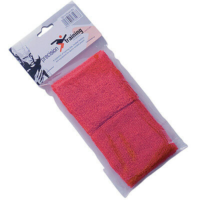 Precision Red Sweatbands - Red Sport Tennis Running Wristbands-Ideal Sports Gift