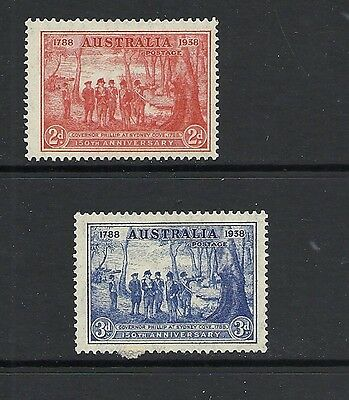 1937 King George VI SG193 & SG194 150 Anniv. NSW 2d & 3d  Mint Hinged AUSTRALIA