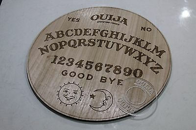 50cm Round Solid Spirit Ouija Oak Veneer Board With Planchette Made in Australia