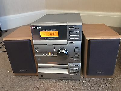 Sony Micro System CMT-CP1 AM/FM Tape Cassette CD Player HIFI with SPEAKERS