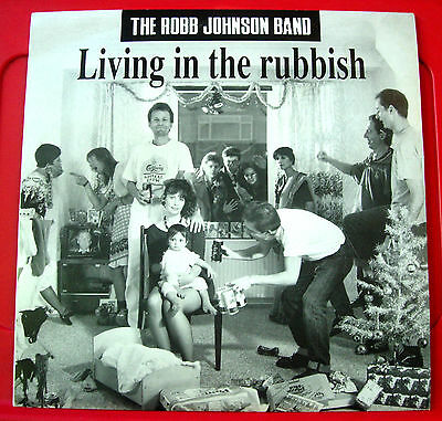 "Robb Johnson Band Living In The Rubbish 12"" PC 1991 Irregular Pip Collings VINYL"