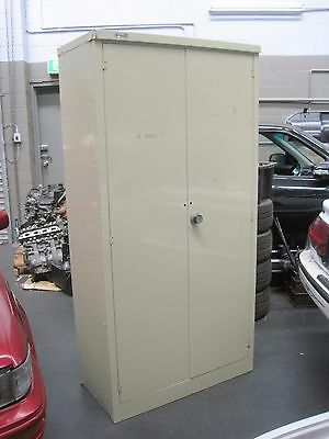 LARGE METAL STORAGE SECURITY CABINET LOCKER 5 x SHELVES