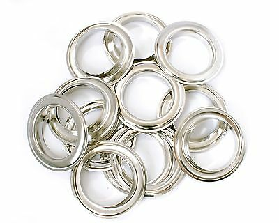 40mm Curtain Eyelets Grommets Silver Brass Rust Proof Fabric Shower Tape