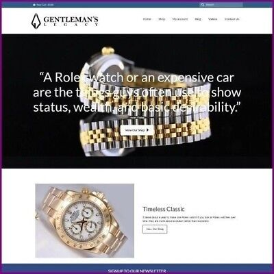 ROLEX WATCH Website Business For Sale|Earn $4,340.40 A SALE|FREE Domain|Hosting