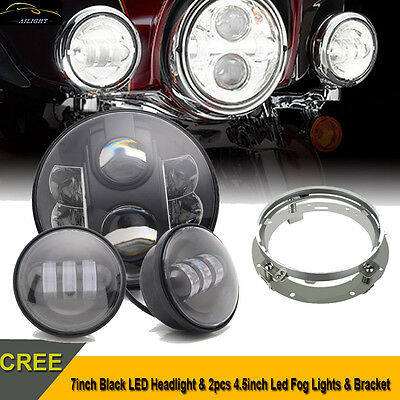 7inch CREE LED Headlight Bulb Daymaker Passing Lamp for Harley Davidson Touring