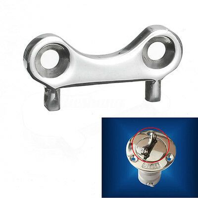 Universal Stainless Steel Boat Deck Fill Plate Key Tool Water Fuel Gas Waste Cap