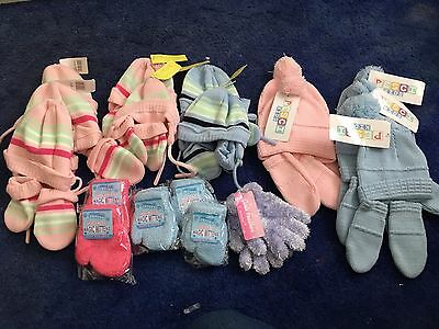 Joblot Infants Hat And Mittens Selection New With Tags