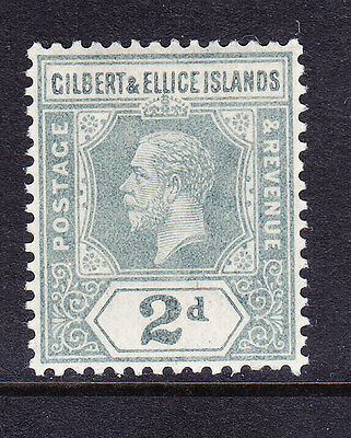 GILBERT & ELLICE IS Geo V SG14 2c greyish-slate - lightly mounted mint cat £15