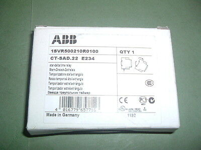 Abb Ct Sad.22 E234.......star Delta Timer Relay 1Svr500210R0100  ...new Packaged