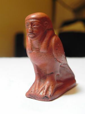 Zurqieh - Ancient Egypt, New Kingdom. Huge Red Jasper Ba Bird . 1400 B.c