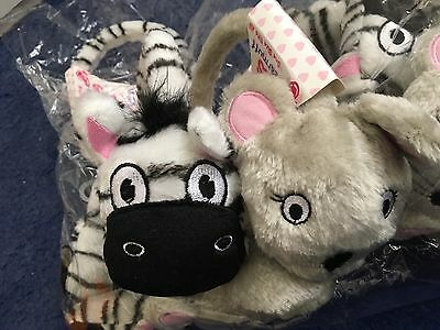 Joblot Kids Zebra/mouse Earmuffs Brand New