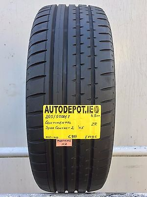 205/50ZR17 CONTINENTAL SPORT CONTACT 2 N2 Part worn tyre (C999)