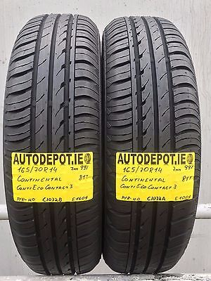 165/70R14 CONTINENTAL ECO CONTACT 3 81T Part worn tyres x2 (C1032A&B)