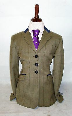 Tagg Elf Turin Brown Tweed Show Jacket Velvet Collar