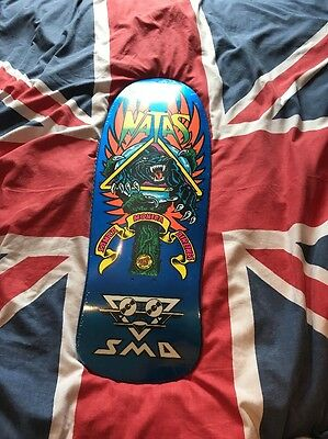 Santa Monica Airlines/ SMA Natas Panther 3 Skateboard Deck Pearl Blue Reissue