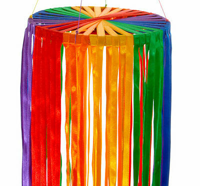 Rainbow Ribbon Spinner Hanging Garden Mobile Retro Windsock - BRAND NEW