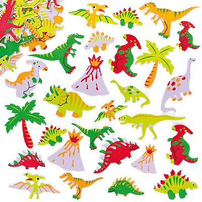 Dinosaur Foam Stickers for Kid's Crafts & Card Making Activities (Pack of 102 )