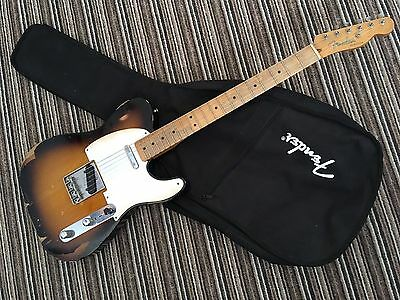 2010 Fender Road Worn Telecaster, 50s Style Tele, Nitro burst Finish & Hard Case