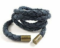Burberry Brit Blue Leather Cord Belt 100% Genuine - NEW WITH BOX