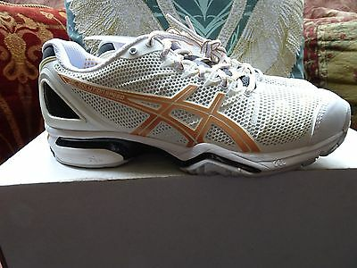 Ladies Asics Gel Solution Speed tennis shoes, size UK 5. New, unworn with box