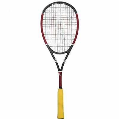 2017 Harrow M-140 Squash Racquet - Black/Red/White