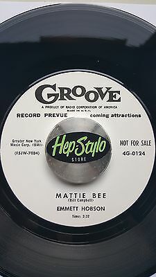 EMMETT HOBSON RE 45 - MATTIE BEE/WHERE IS JOE - TOP GROOVE 50s R&B DANCEFLOOR