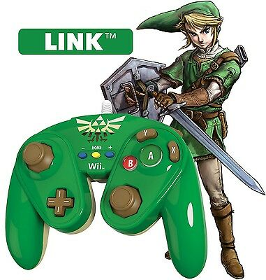 Wii U Controller LINK PDP Super Smash Bros SHIPS FAST! Wired Fight Pad Fits Wii