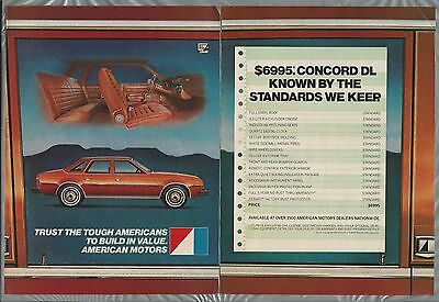 1983 AMC CONCORD 2-page advertisement, American Motors ad, Concord DL