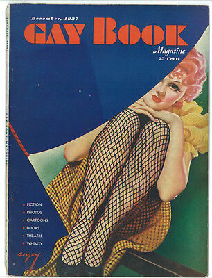 Gay Book Dec 1937 PULP Vintage Magazine RARE