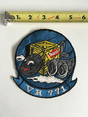VTG US Navy LARGE Jacket Bomber Patch VR 771 Air Lift Control PATROL SQUADRON
