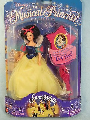 Vintage-Walt Disney-Musical Princess-Snow White Doll -In Original Box-Mattel-