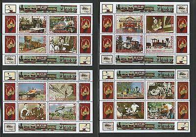 Angola 1999 Walt Disney Railroad Story set of 4 sheetlets Unmounted mint