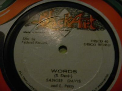 "Sangie Davis And L. Perry 12""  words  Devon Irons & Doc Alimantado Vampire  orig"