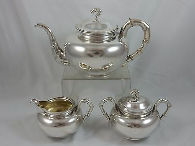 QUALITY, CHINESE EXPORT solid silver TEA SET, c1910, 1011gm