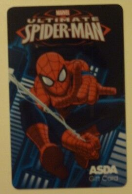 Spiderman ASDA Gift Card new and unused MARVEL COMICS original item