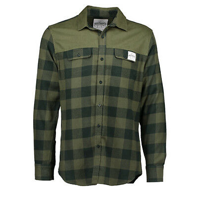Aqua Products NEW Fishing Men's Clothing Green Check Flannel Button Up Shirt