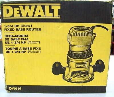 Dewalt dw616 1 34 hp fixed base router 11499 picclick dewalt dw616 1 34 hp fixed base router greentooth Gallery