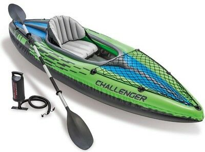 Canoa gonfiabile Intex 68305 Challenger K1 1 persona remi pompa Kayak 2018 Rotex