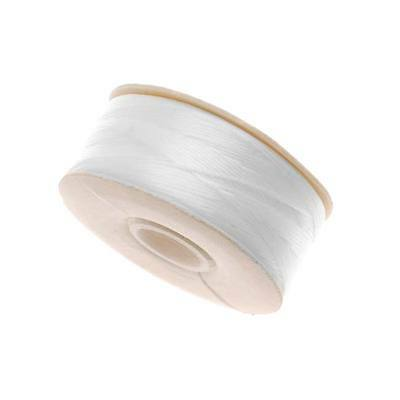 "Nymo Nylon Beading Thread Sz D For Delicas ""White"" (64Yd Bobbin)"