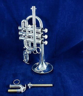 New Austin Custom Brass Doubler's 3+1  Piccolo trumpet in silver plate (Bb/A)