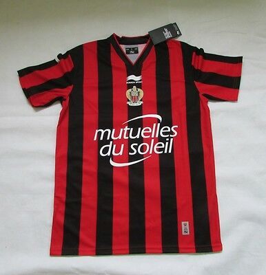 OCG Nice Official 2015 Home Football Shirt Red & Black BNWT Size Large